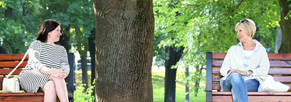 Women talking in the park